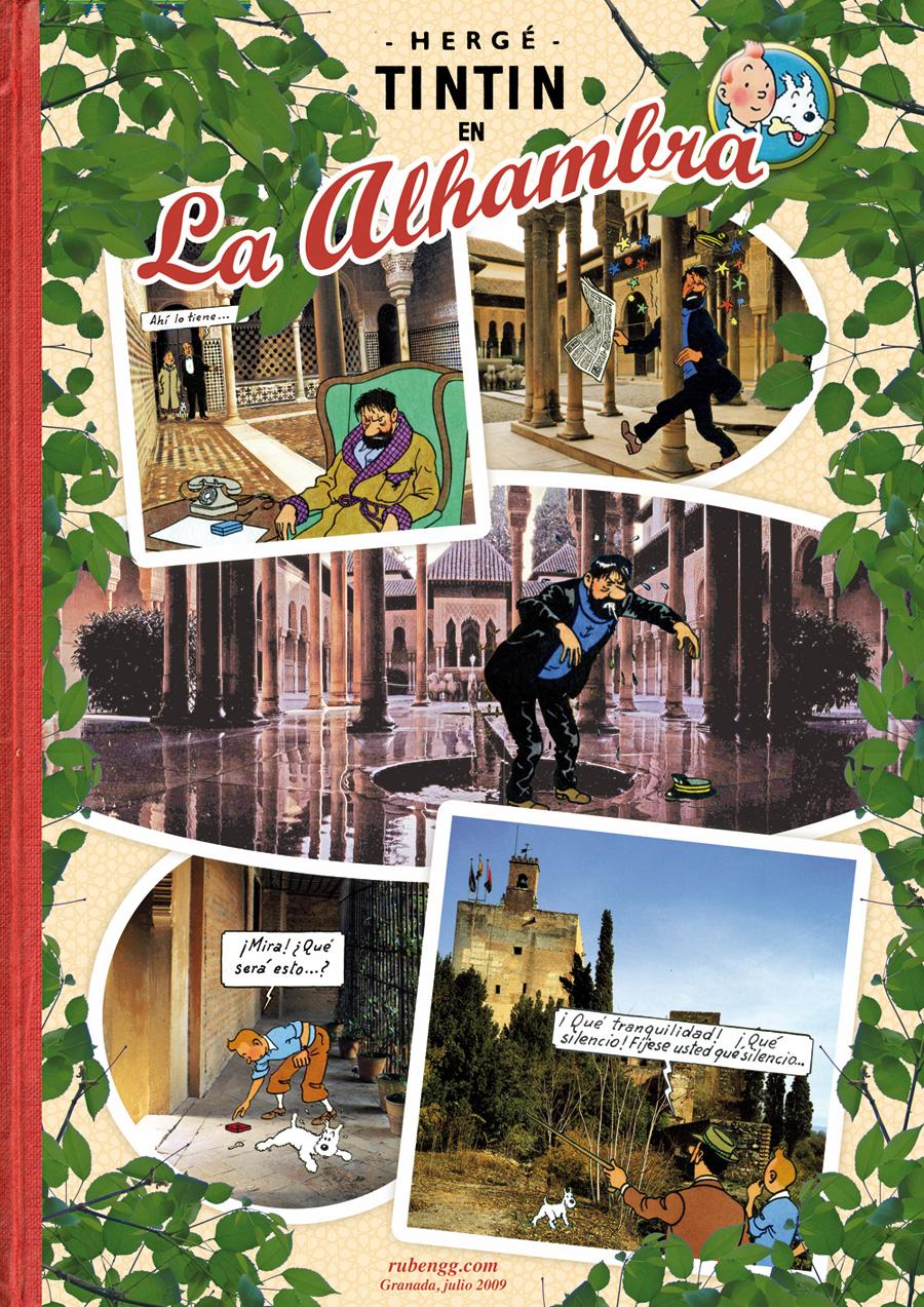 Este collage está realizado para un expo homenaje a Tintin en Huelva ...